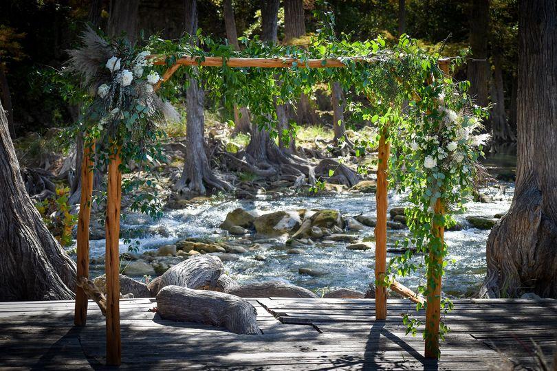 Wedding Arbor on River