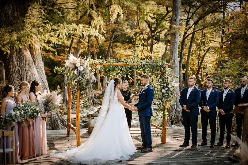 wedding deck blanco river ceremony old glory ranch wimberley 51 166863 160936798664687