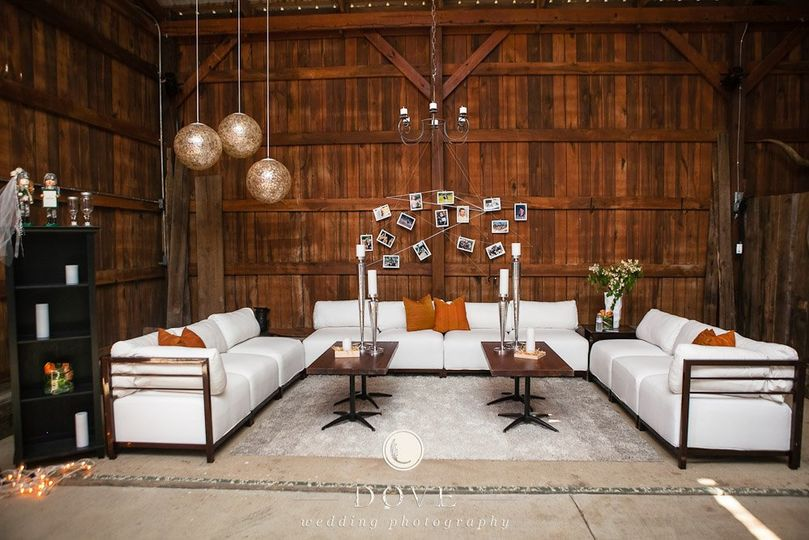 Create a relaxing lounge space at your reception with Axis furniture, modern throw pillows and...