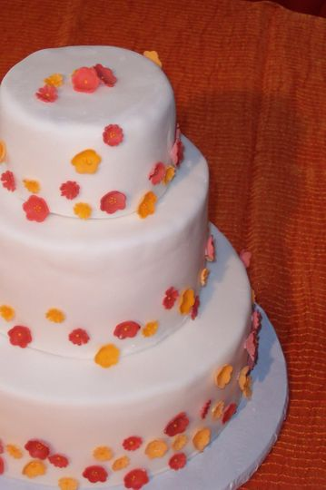 Simple three tiered cake