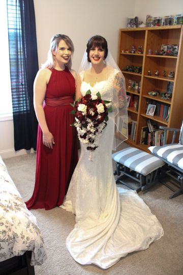 Bride with her Made of Honor