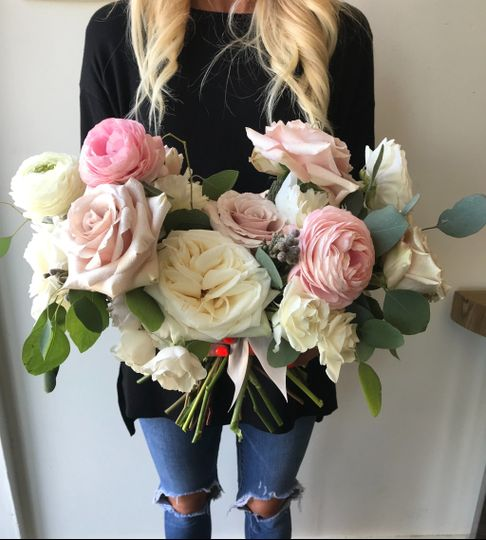 Blush and ivory florals