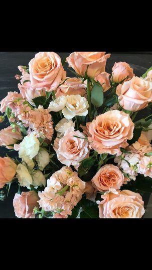Peach-themed florals