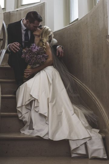 Couple on the staircase