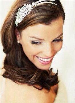 Bridal makeup and hairband