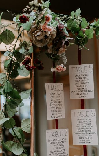 Fall inspired seating chart