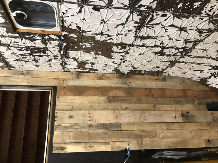 Pallet wall installation