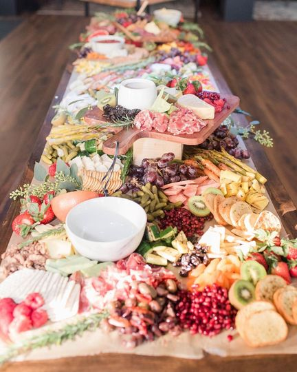 Colorful Grazing Table