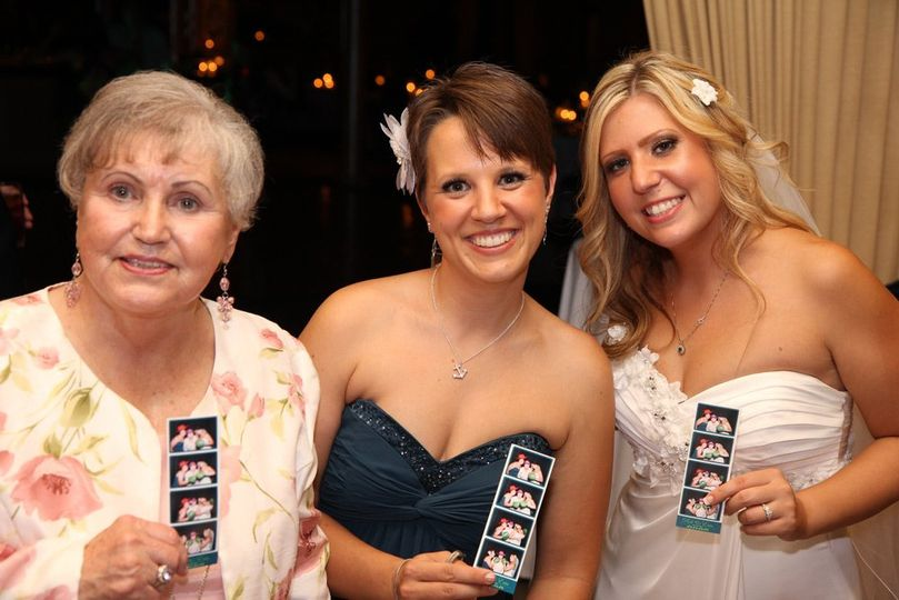 Snapfuze provides fun for wedding guests of all ages. Here's one of our brides, her sister and...