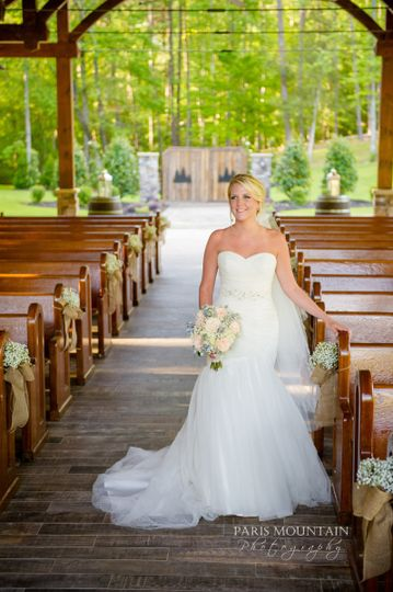 Bride at the aisle