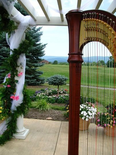 Wedding Ceremony at Bowling Green Golf Club in Front Royal, Virginia