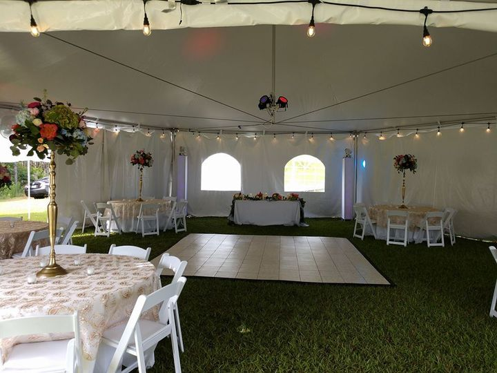 Interior of the tent