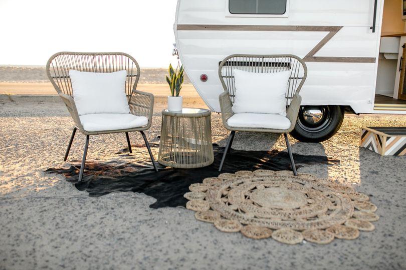 Front patio setup