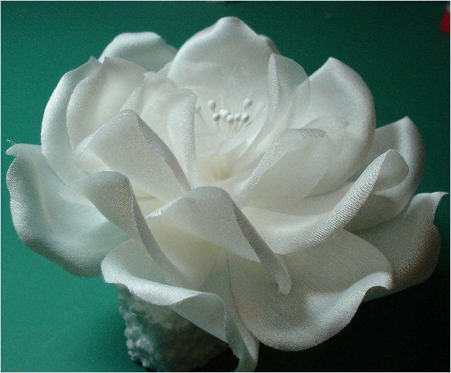 Hand Crafted Silk Rose Fascinator.  Each petal is hand cut and shaped Triple Silk Organza.  Custom...