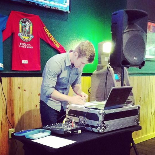 DJ Trey Catman getting ready for Trivia