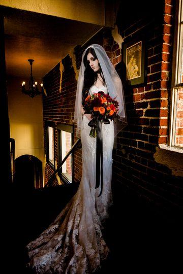Gothic bridal look