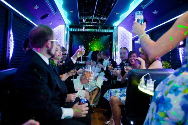 Shamrock Limousine Pittsburgh Wedding in Party Bus