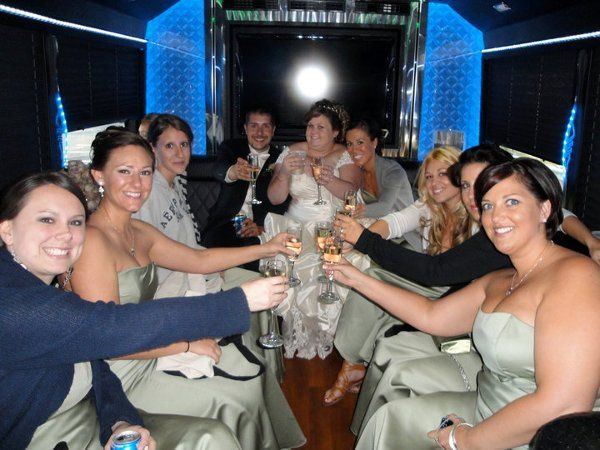 Shamrock Limousine, Pittsburgh Wedding in Limo Bus