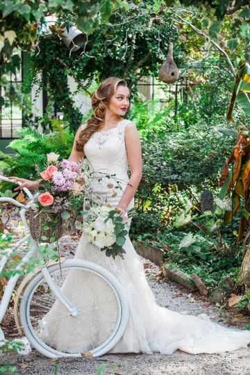 Creative bridal photo