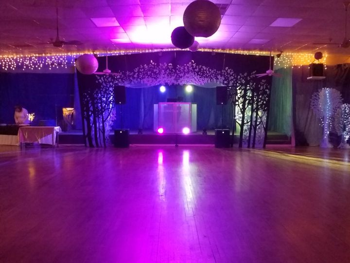 Lighting for wedding reception