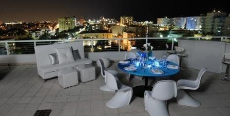 Red's The Steakhouse features a private rooftop terrace event space The terrace can accommodate...