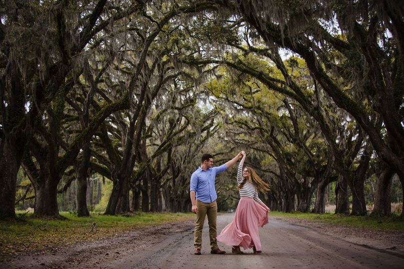 Wormsloe Engagement Photograph