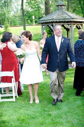 Monica & Joe just married at the gazebo at DuPortail