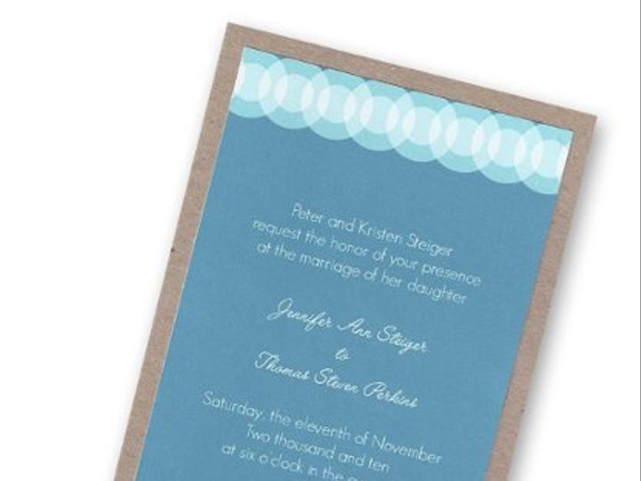 Tmx 1311036497530 Bluecardboard Ventura wedding invitation