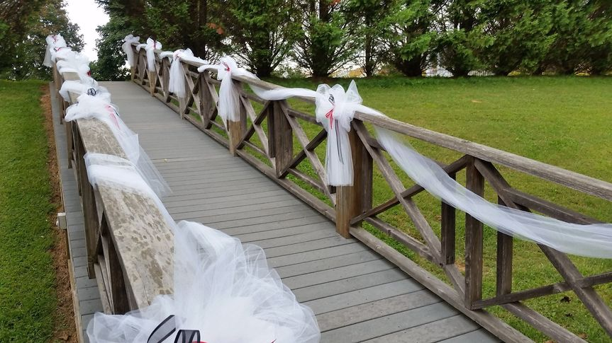 Bridge to ceremony site