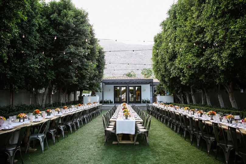 Outdoor reception set-up