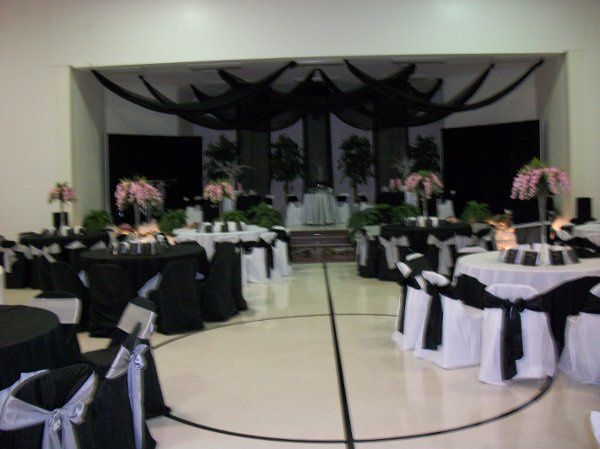 tableclothes, chaircovers, sashes, draping, centerpieces