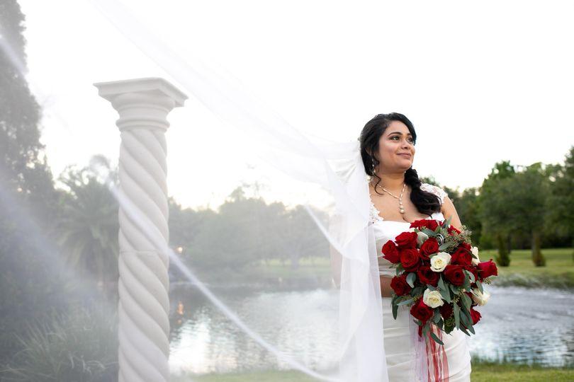 Morgan Falls Bridal Portrait