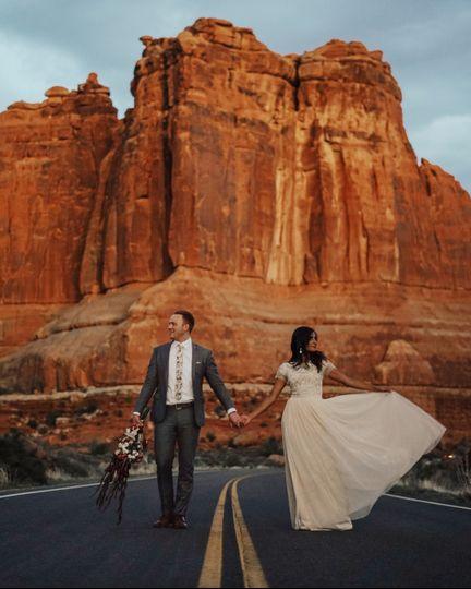 Road Bride + Groom