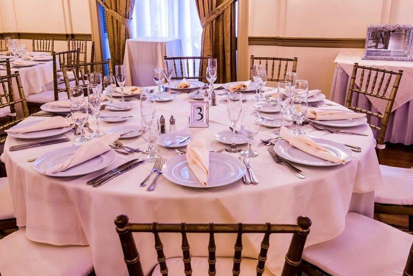Grand ballroom table setting