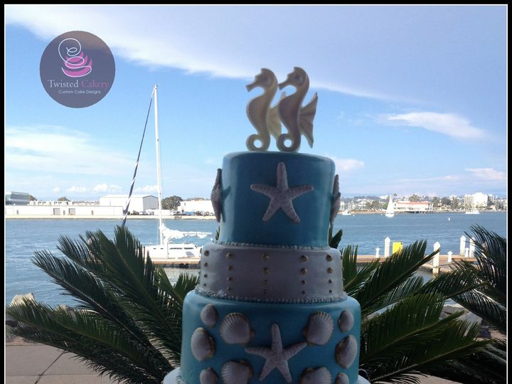 Tmx 1393399592813 Shellweddin San Diego wedding cake
