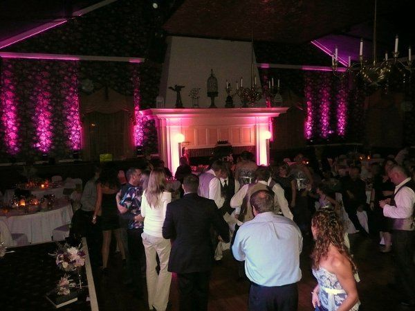 Posey DJ wedding reception and uplighting at The Commons in Franklin, PA