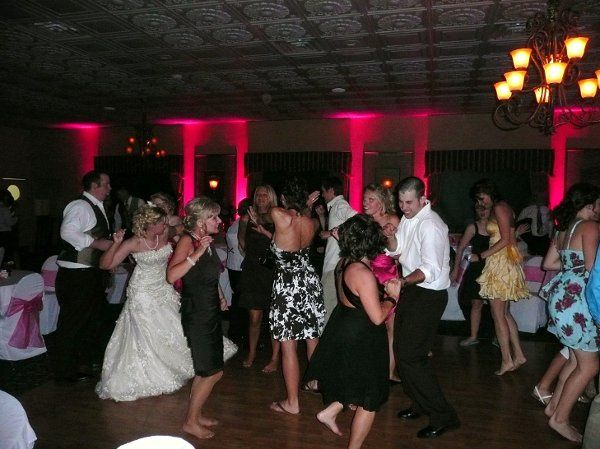 Posey DJ wedding reception and uplighting at Cross Creek Resort in Titusville, PA