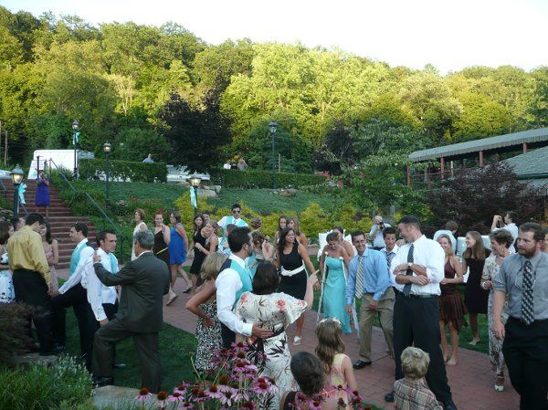 Posey DJ elegant outdoor wedding reception at the Foxburg Inn, Foxburg, PA
