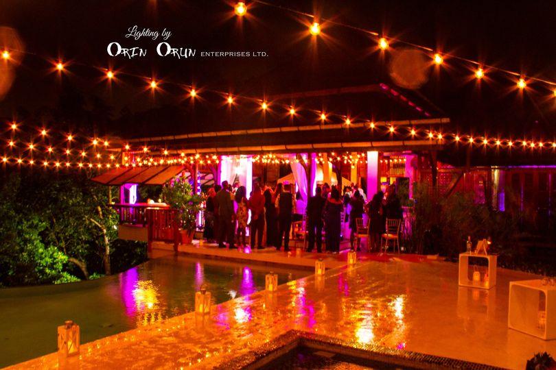 String lighting at Ohana Villa