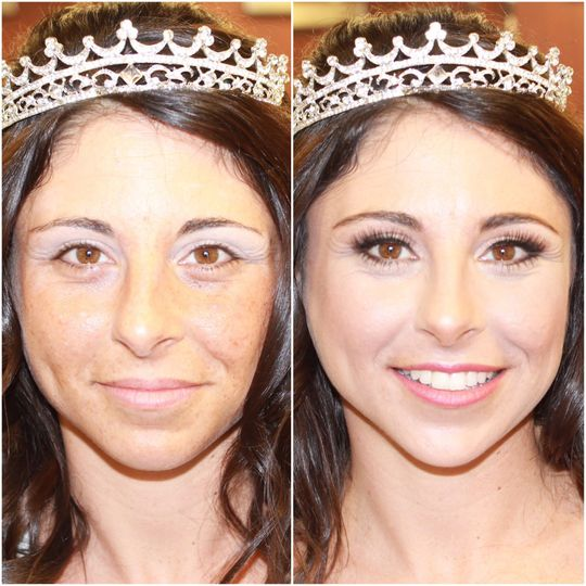 Before & After on beautiful bride, Jess