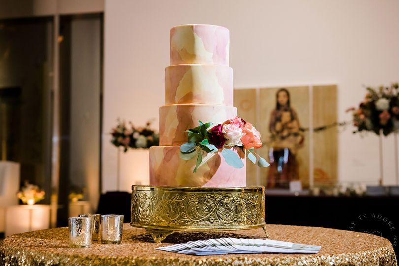 Beautiful watercolor cake