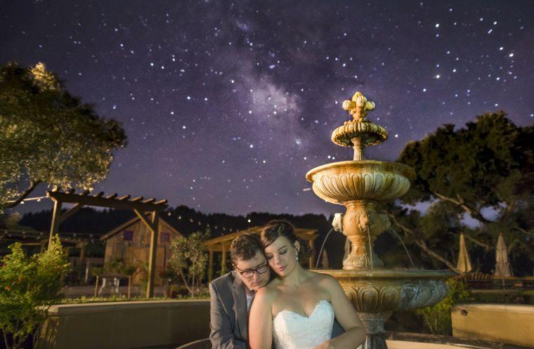 A hug under the stars