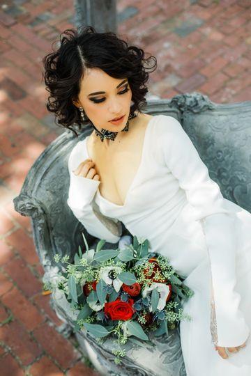 Winter goth wedding