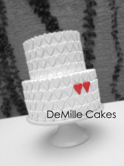 sm heart cake