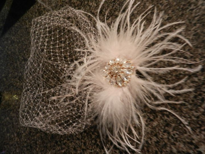 custom dyed bridal headpiece