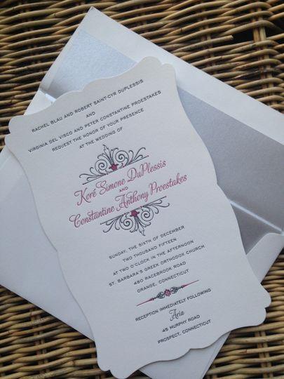 Shaped invite