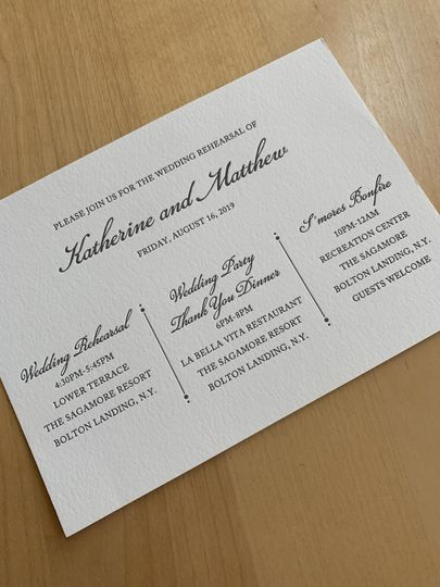 Rehearsal Dinner -LETTERPRESS