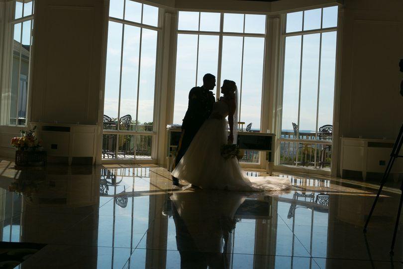 A romantic silhouette