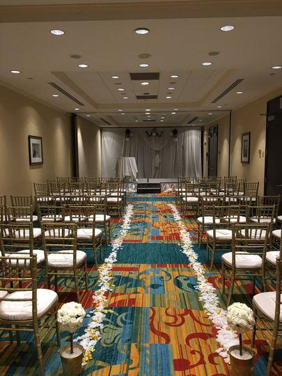 Small wedding set-up