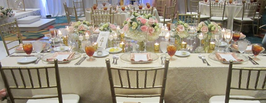 Wedding dinner set-up